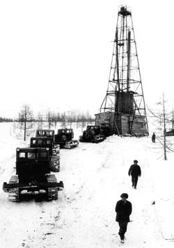 Талнах: начало Буровая вышка. 1961 год