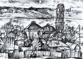 В.М. Денискин. Уголок старой Калуги. 1977