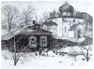 В.Г. Леонов. В Юрьеве-Польском. 1979