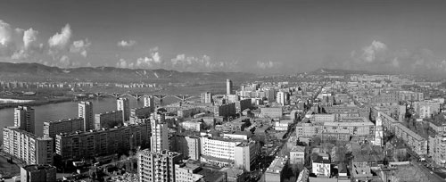 Красноярск. Панорама города. Фото Александра Аверина